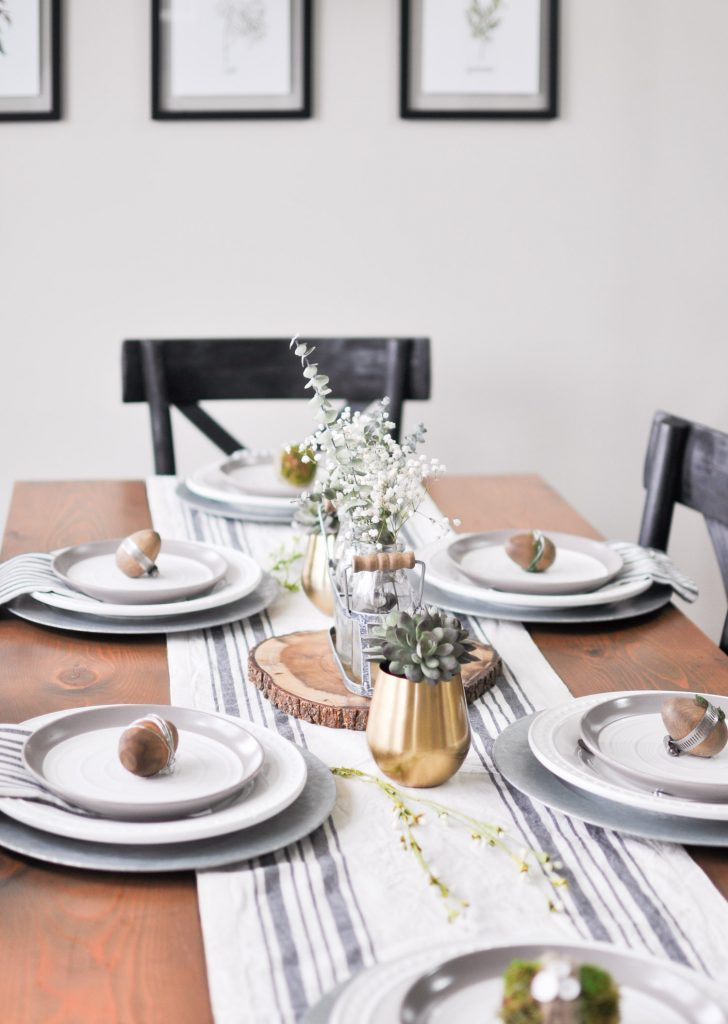 Simple Modern Easter Tablescape