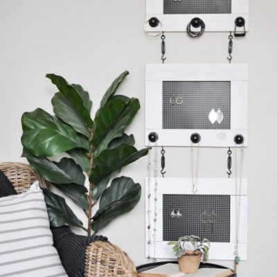 DIY Industrial Jewelry Organizer | DIH Workshop