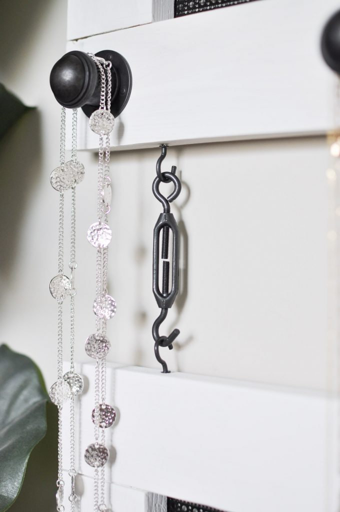 Create this functional and stylish DIY Industrial Jewelry Organizer with just a few supplies and simple steps! #sponsored #DIHWorkshop