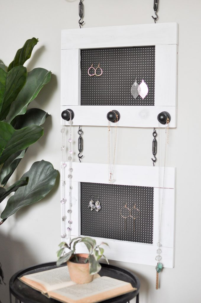 DIY Industrial Jewelry Organizer DIH Workshop Cherished Bliss