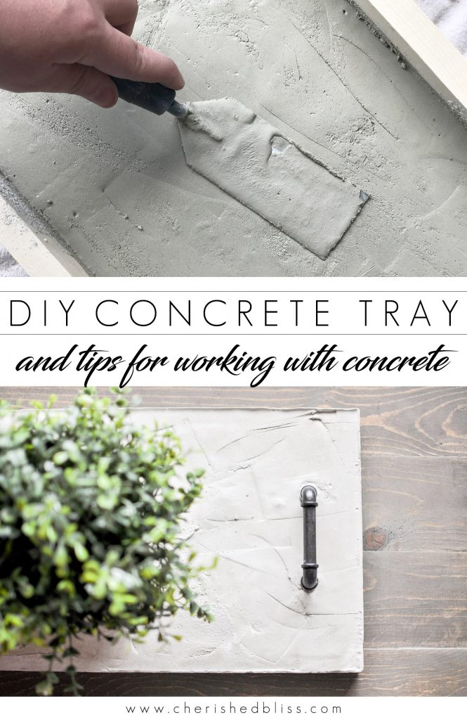 Diy concrete tray centerpiece tips for using concrete for Concrete advice
