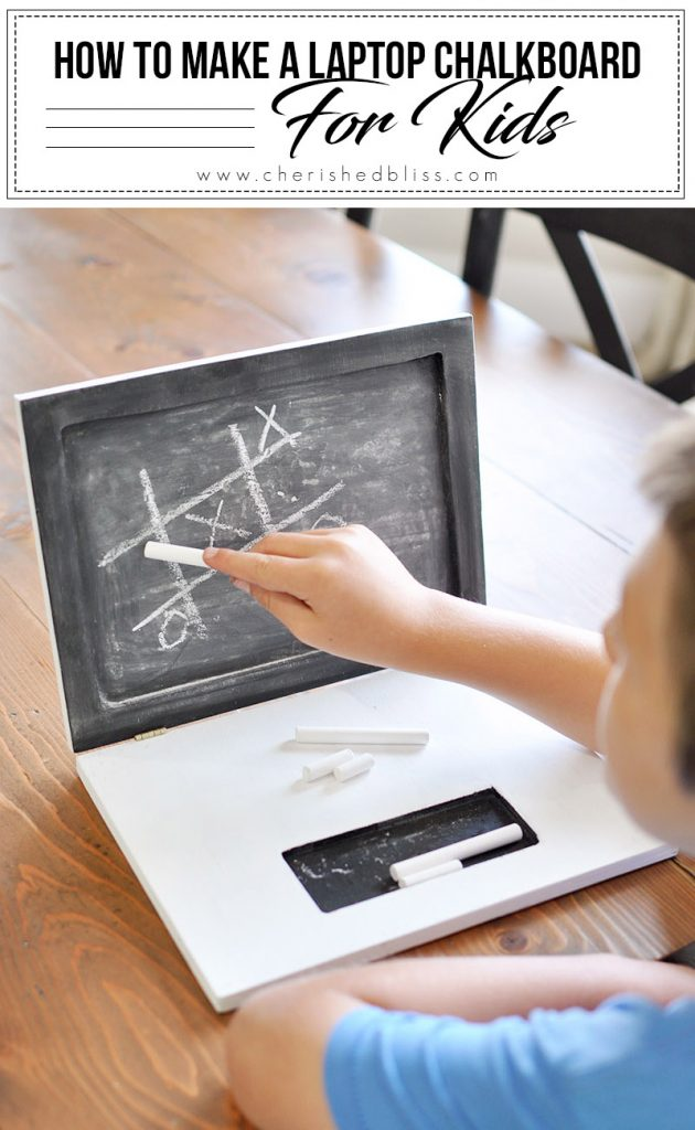 No electricity required for this DIY Laptop Chalkboard that every kid will love! Perfect for imaginative play in the car or at home!