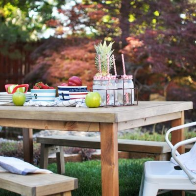 DIY Kids Outdoor Table Free Plans