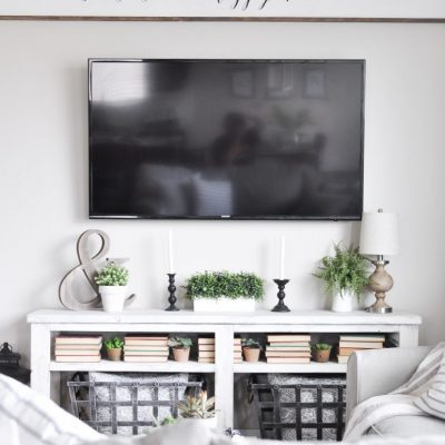 Simple Summer Mantel Tour | Green and White