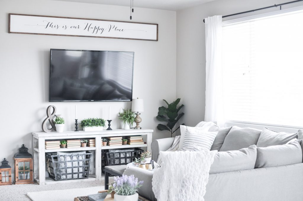 our home consists of neutral simple and easy to manage decor this summer i thats it for our living room - Modern Farmhouse Living Room