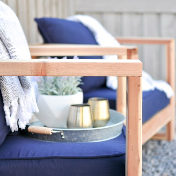 DIY Modern Outdoor Chair Free Plans