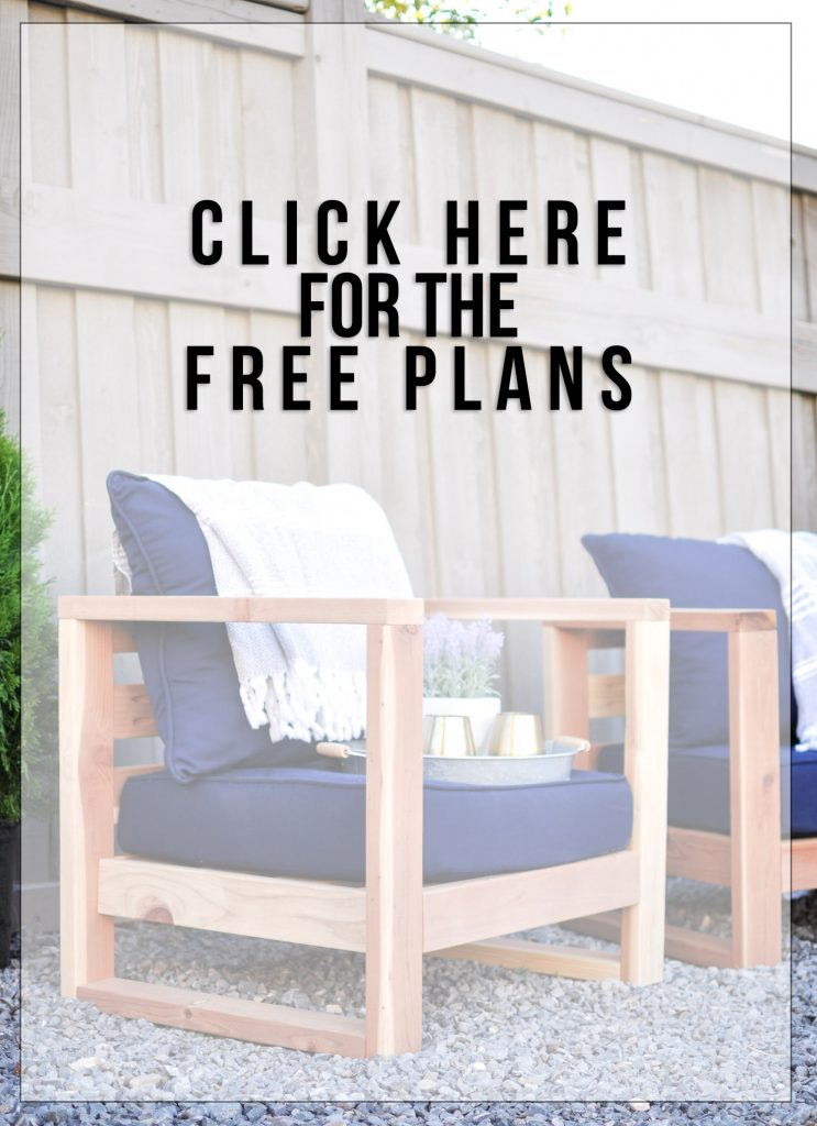 Diy Modern Outdoor Chair Free Plans Cherished Bliss