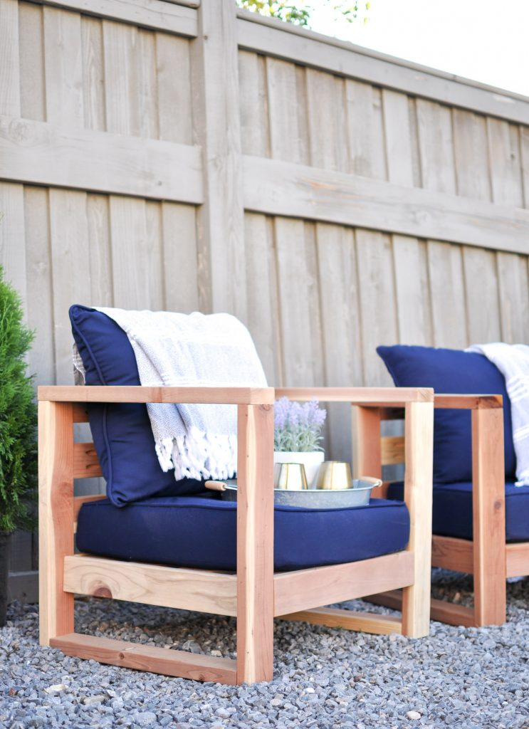 DIY Modern Outdoor Chair Free Plans - Cherished Bliss
