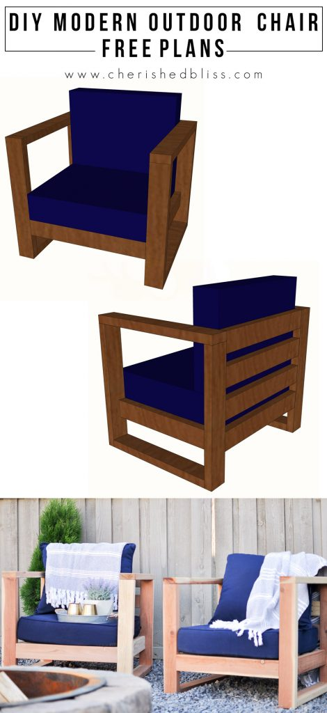 With These Easy To Follow Free Plans You Can Build This Beautiful DIY  Modern Outdoor Chair Part 47
