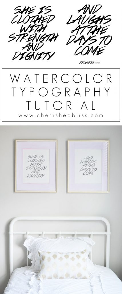 Learn how to create this beautiful Watercolor Typography without any watercoloring experience! This new Watercolor paint can be used on multiple surfaces.