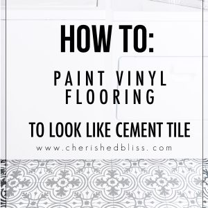 How to Paint Vinyl Floors | Cement Tile Look