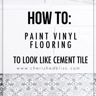 How to Paint Vinyl Floors | Cement Tile Look