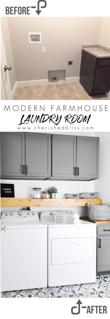 Do Laundry In Style This Modern Farmhouse Room Come See The Transformation From