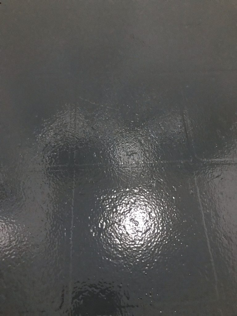 Got ugly Vinyl Floors? With this step by step tutorial you can learn how to Paint Vinyl Floors to look like the trendy cement tile everyone loves!