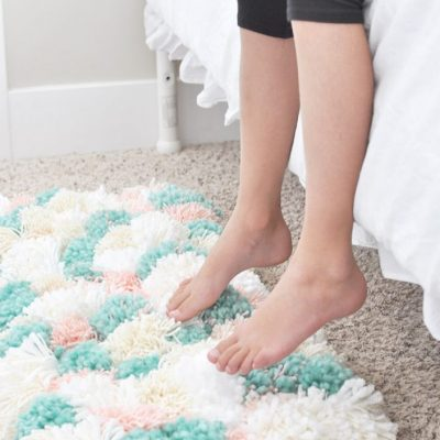 How to Make a Pom Pom Rug the Easy Way