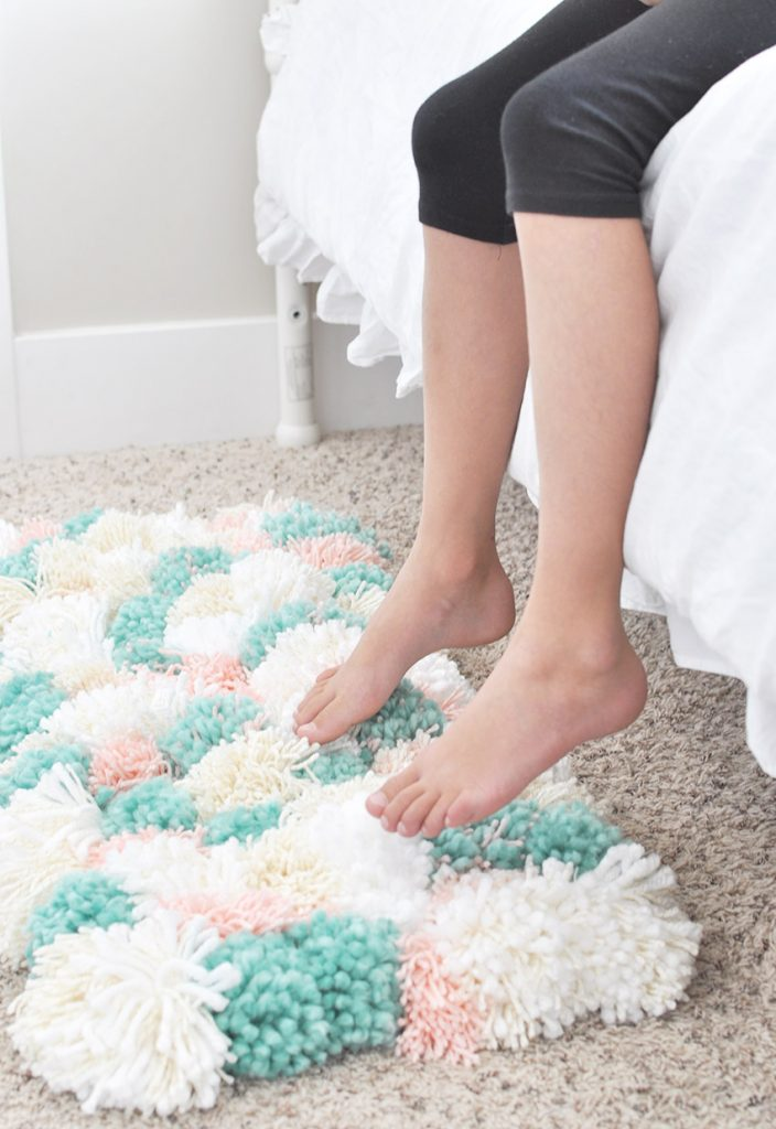 How To Make A Pom Rug The Easy Way Cherished Bliss
