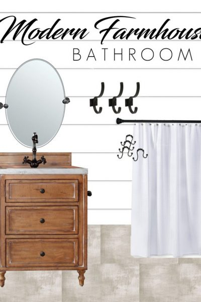 Modern Farmhouse Small Bathroom Makeover