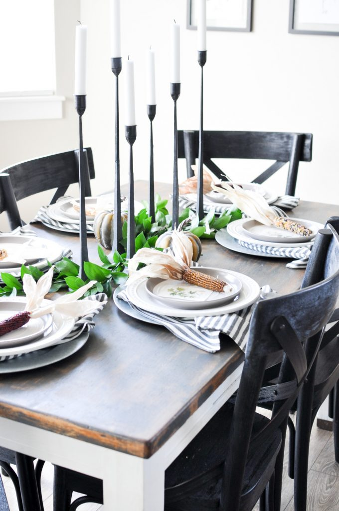 Natural Modern Fall Tablescape Cherished Bliss