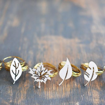Modern Fall Napkin Rings Tutorial
