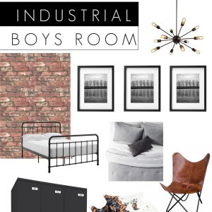 Industrial Bedroom Design Board
