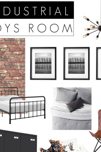 Industrial Boys Bedroom Design Board