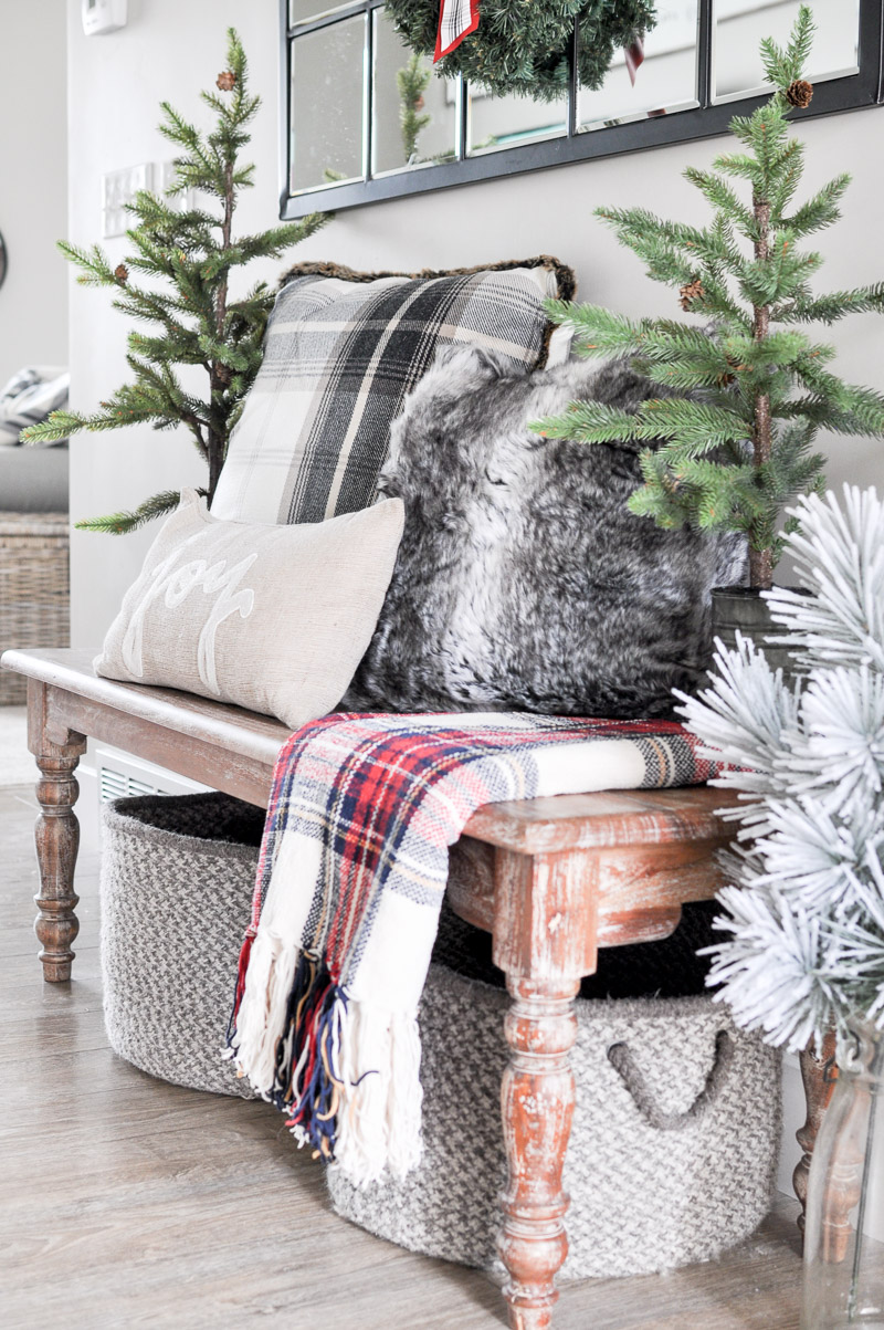 Cozy Christmas Entryway Tour 2017 - Cherished Bliss