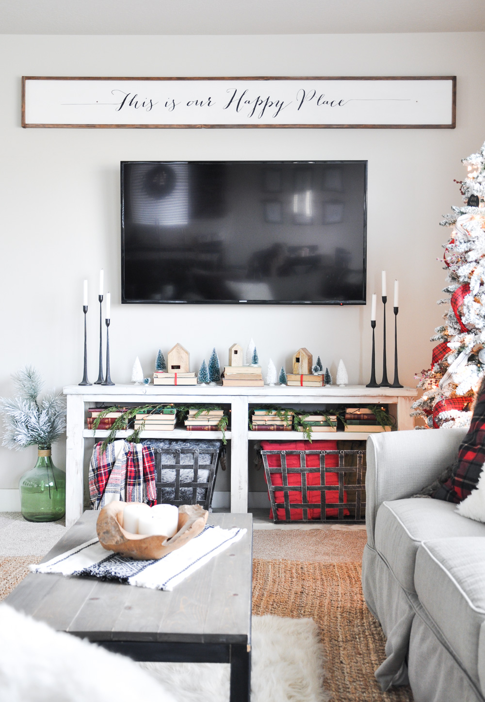 Come take a peek into this Living Room all decorated for Christmas and get a few tips on Christmas Mantel Decor!