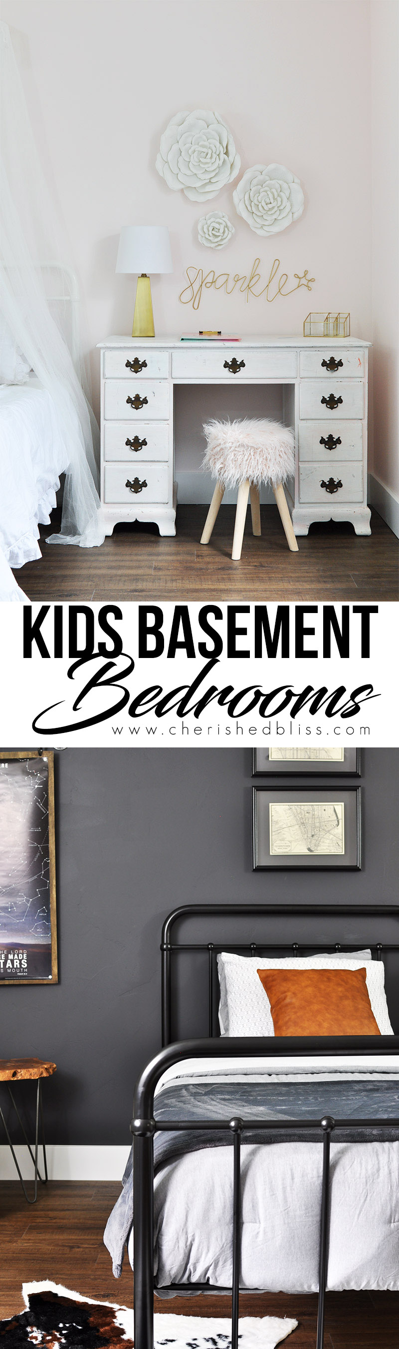 Kids Basement Bedrooms don't have to be ugly and drab. Take a look at how this flooring transformed this space into something truly amazing!