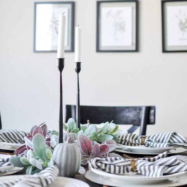 Last Minute Thanksgiving Tablescape