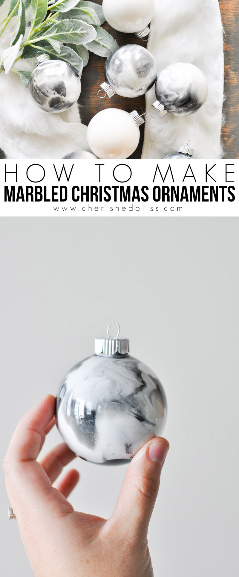How to make marbled christmas ornaments cherished bliss