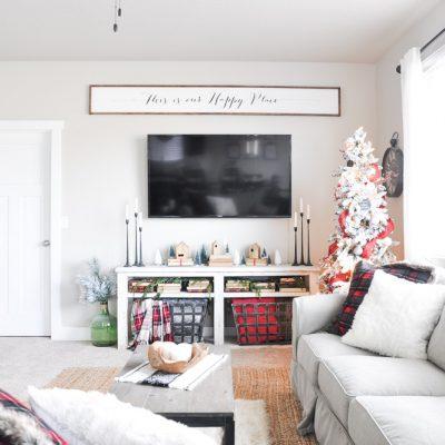 Simple Christmas Living Room Home Tour