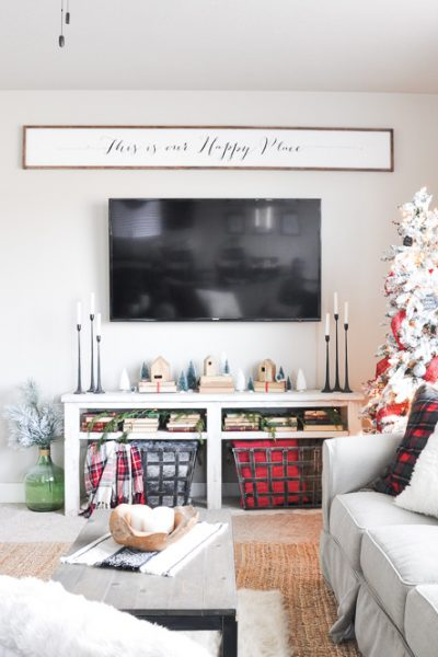 Simple Christmas Living Room Home Tour