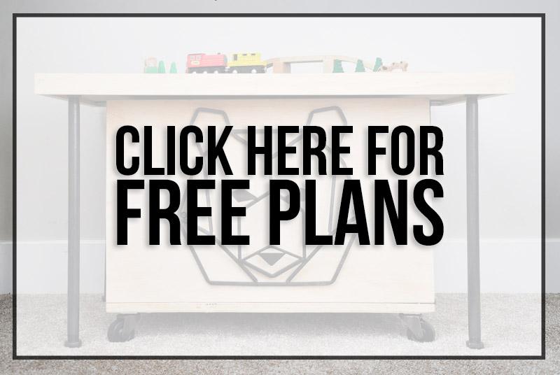 DIY Train Table - Free Plans