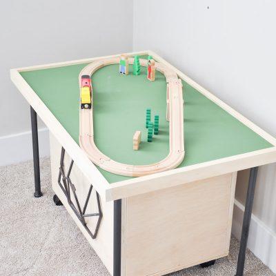 Space Saving DIY Train Table Free Plans