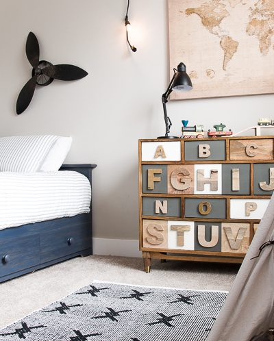 Navy and Gray Big Boy Bedroom