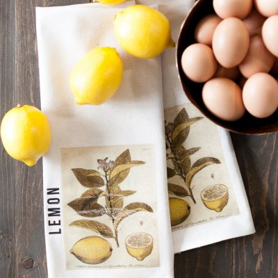 DIY Lemon Kitchen Towel Tutorial