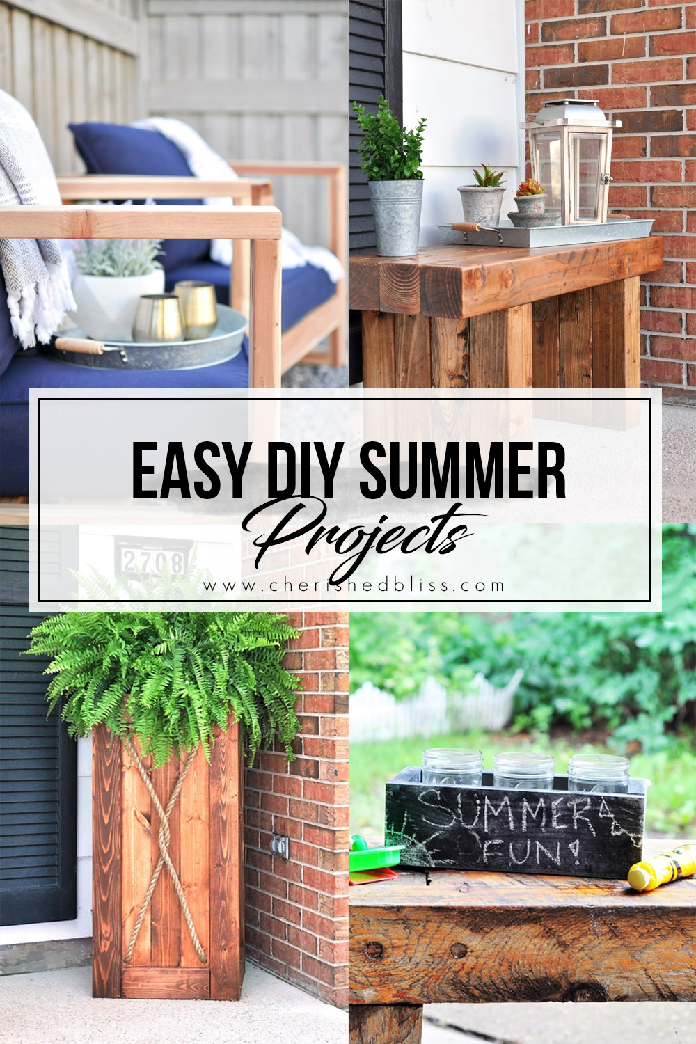 Easy Diy Summer Projects To Decorate Your Outdoors Cherished Bliss