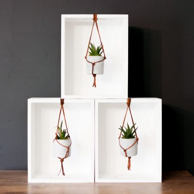 Leather Macrame Hanging Succulent Planter Tutorial