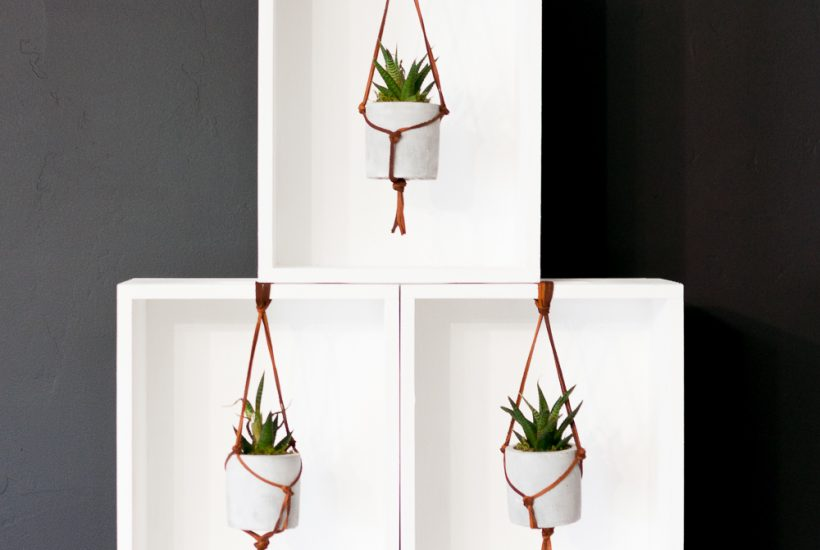Follow this unique Leather Macrame Hanging Succulent Planter Tutorial to bring stylish natural elements into your home. Customize this Succulent Planter to fit any decor style!