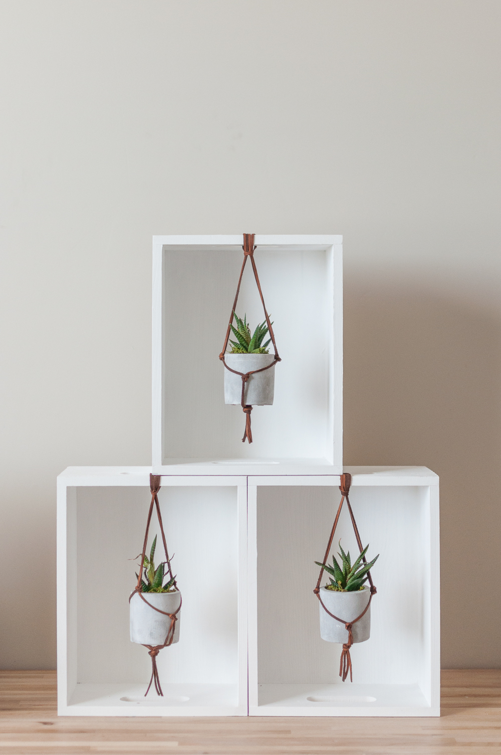 Leather Macrame Hanging Succulent Planter Tutorial Cherished Bliss