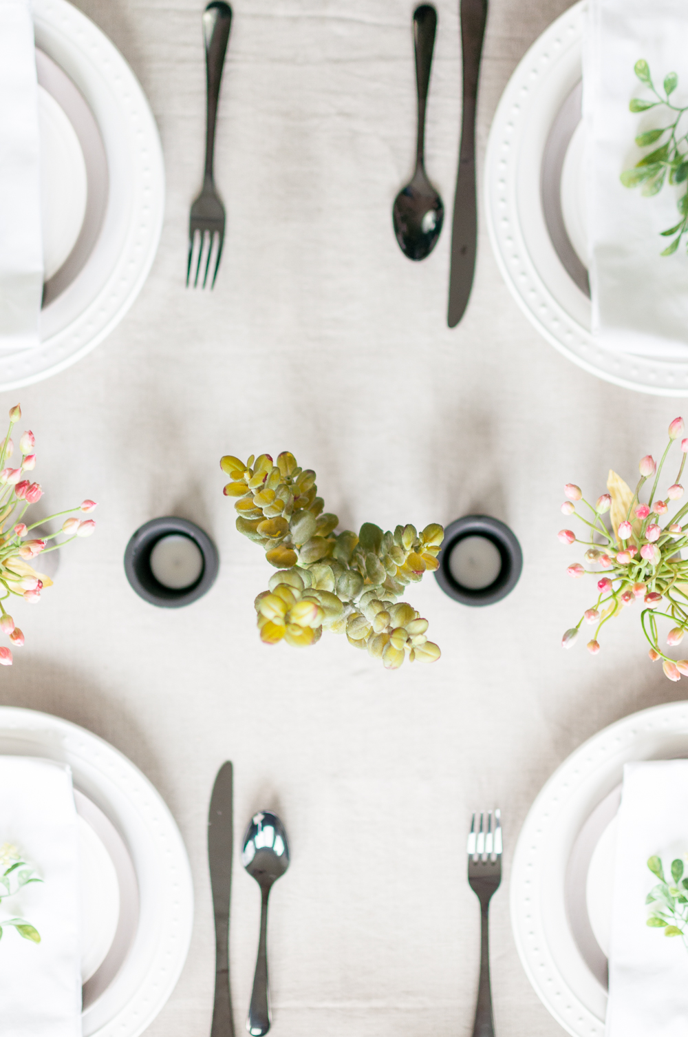 How to Set a Tablescape in 5 Easy Steps || Decorate the Table with a Centerpiece