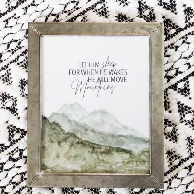 Mountain Watercolor Tutorial & Free Printable