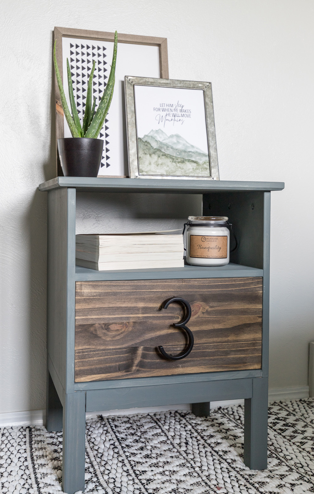 Give this basic Ikea Nightstand an easy modern makeover in just a few hours following the tutorial for this Tarva Nightstand Hack!