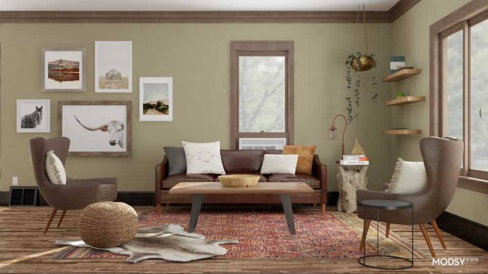 Living Room Design with Modsy