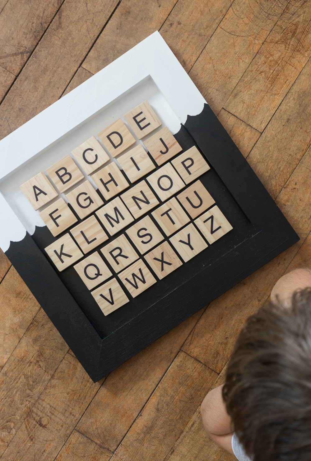 Kids will love this easy to make Magnetic Alphabet Chart where they can learn their letters, alphabet and how to form simple words!