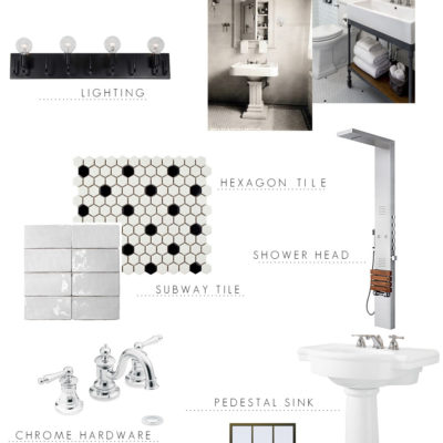 Industrial Bathroom Design Plans + Vintage Vibe
