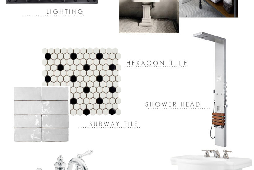 Industrial Bathroom Design Plans (with a vintage vibe) that showcase the era of a historical home while offering modern conveniences.
