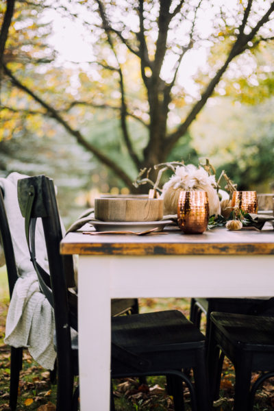 Velvet Pumpkin Outdoor Fall Tablescape