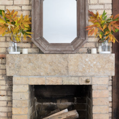 Natural Fall Mantel + a Simple Craft
