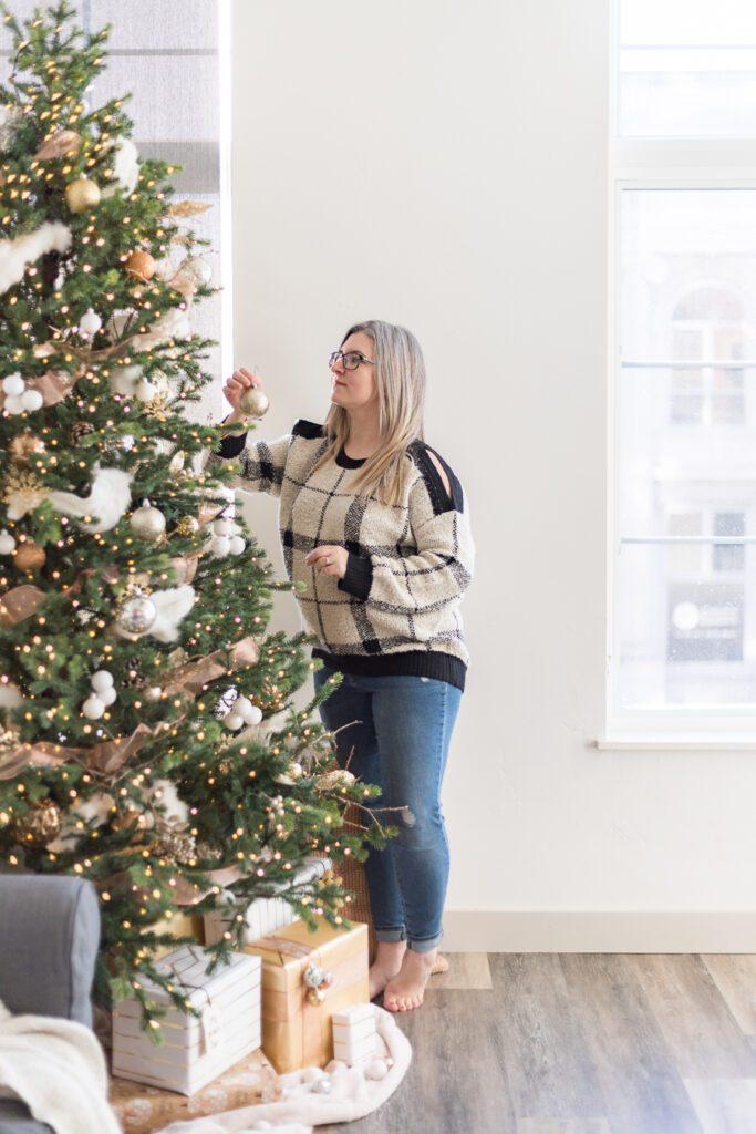 Cozy and Metallic Christmas Tree - Cherished Bliss